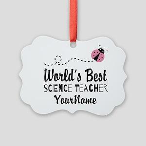 World's Best Science Teacher Picture Ornament