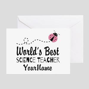 World's Best Science Teacher Greeting Card