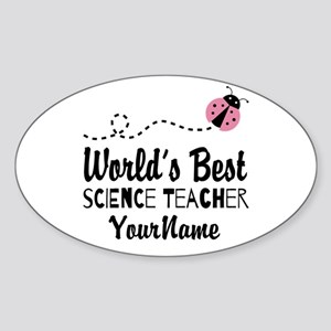 World's Best Science Teacher Sticker (Oval)