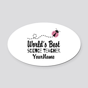 World's Best Science Teacher Oval Car Magnet