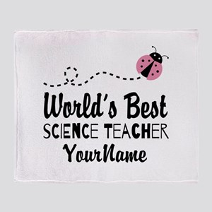World's Best Science Teacher Throw Blanket