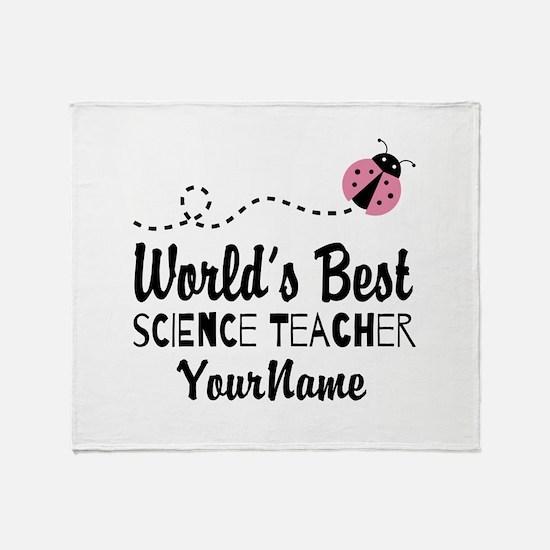 World's Best Science Teacher Throw Blanket