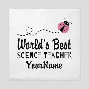 World's Best Science Teacher Queen Duvet
