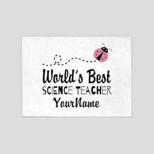 World's Best Science Teacher 5'x7'Area Rug