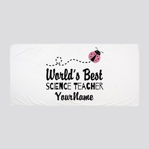 World's Best Science Teacher Beach Towel