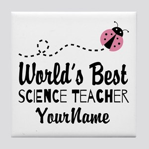 World's Best Science Teacher Tile Coaster