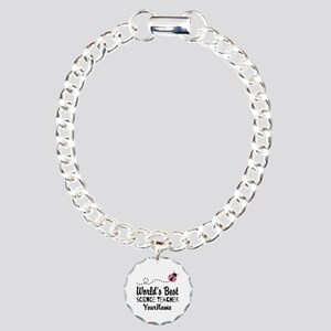 World's Best Science Teacher Charm Bracelet, One C