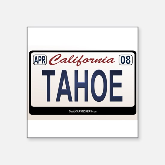 California License Plate Sticker - TAHOE Sticker