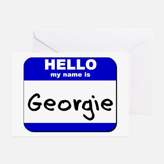 hello my name is georgie  Greeting Cards (Package