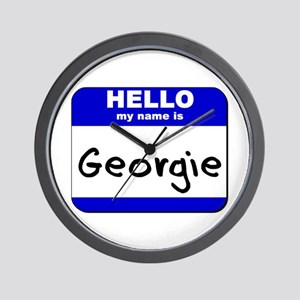 hello my name is georgie  Wall Clock
