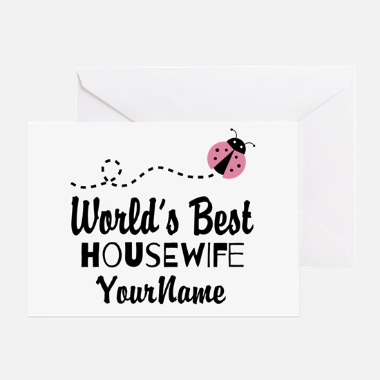 World's Best Housewife Greeting Card