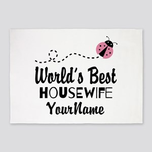 World's Best Housewife 5'x7'Area Rug