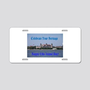 Ellis Island Day Aluminum License Plate