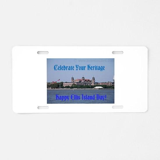 Ellis Island Day Aluminum License Plate