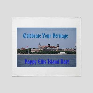 Ellis Island Day Throw Blanket