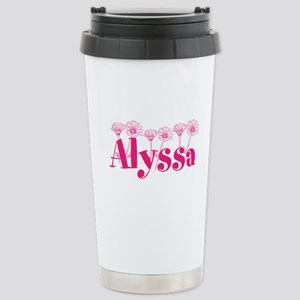 Pink Personalized Name Travel Mug