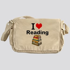 I Love Reading Messenger Bag