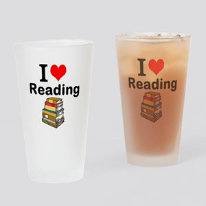 I Love Reading Drinking Glass