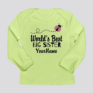 Worlds Best Big Sister - Personalized Long Sleeve