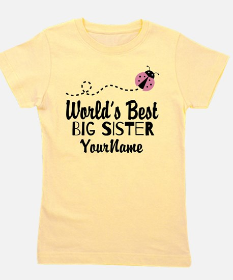 Worlds Best Big Sister - Personalized Girl's Tee