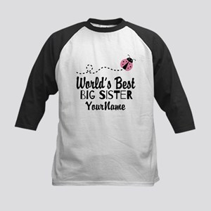 Worlds Best Big Sister - Personalized Kids Basebal
