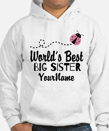 Worlds Best Big Sister - Personalized Jumper Hoody
