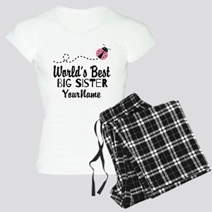 Worlds Best Big Sister - Personalized Women's Ligh