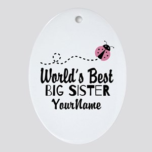 Worlds Best Big Sister - Personalized Ornament (Ov