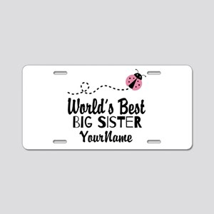 Worlds Best Big Sister - Personalized Aluminum Lic