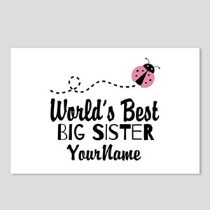 Worlds Best Big Sister - Personalized Postcards (P