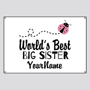 Worlds Best Big Sister - Personalized Banner
