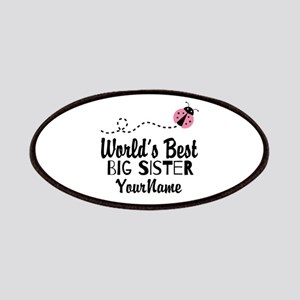 Worlds Best Big Sister - Personalized Patches