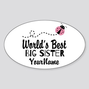 Worlds Best Big Sister - Personalized Sticker (Ova