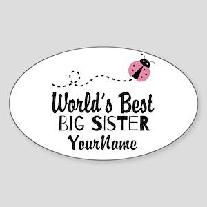 Worlds Best Big Sister - Personalized Sticker (Ova