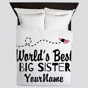 Worlds Best Big Sister - Personalized Queen Duvet