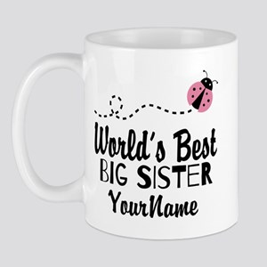 Worlds Best Big Sister - Personalized Mug Mugs