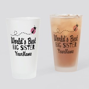Worlds Best Big Sister - Personalized Drinking Gla