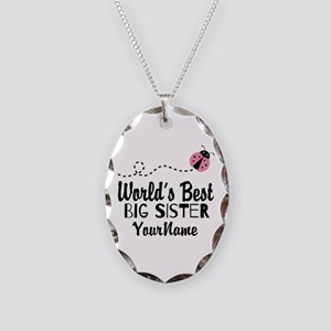 Worlds Best Big Sister - Personalized Necklace Ova