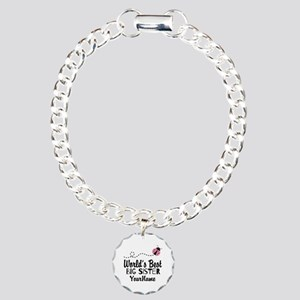 Worlds Best Big Sister - Personalized Charm Bracel