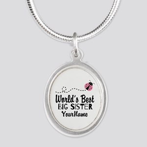 Worlds Best Big Sister - Personalized Silver Oval