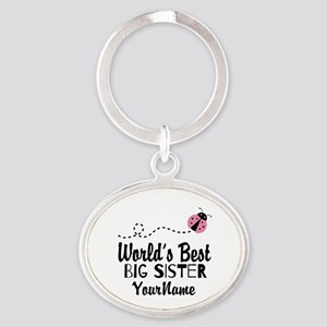 Worlds Best Big Sister - Personalized Oval Keychai