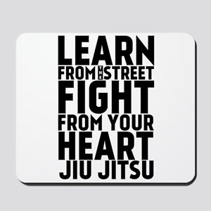 Learn Jiu-Jitsu - Cafe - Black Mousepad