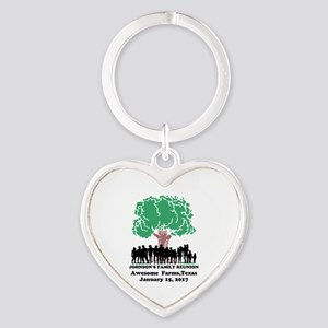 Reunion Personalized Heart Keychain