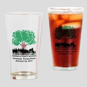 Reunion Personalized Drinking Glass