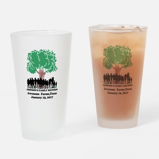 Reunion Personalized Drinking Glass