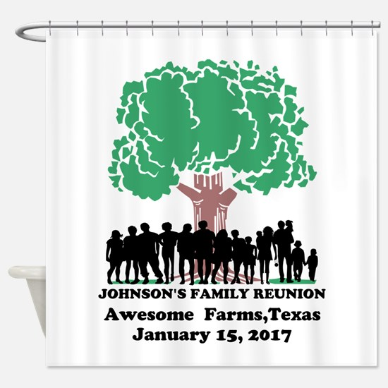 Reunion Personalized Shower Curtain
