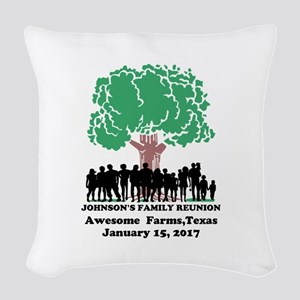 Reunion Personalized Woven Throw Pillow