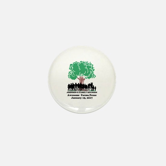 Reunion Personalized Mini Button