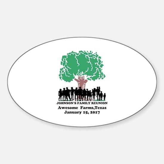 Reunion Personalized Sticker (Oval)