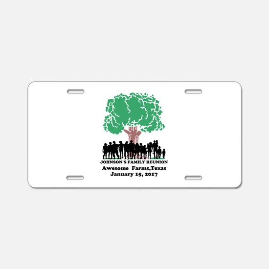 Reunion Personalized Aluminum License Plate